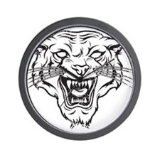 Wild Cat Wall Clock