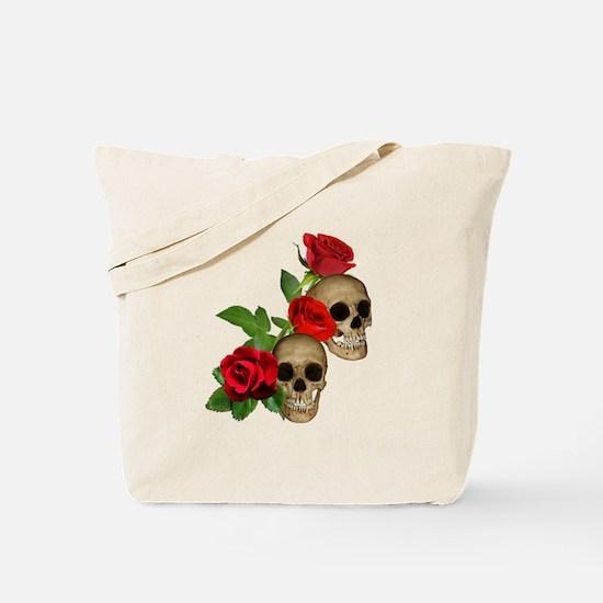 Skulls Roses Tote Bag