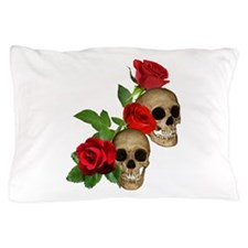 Skulls Roses Pillow Case