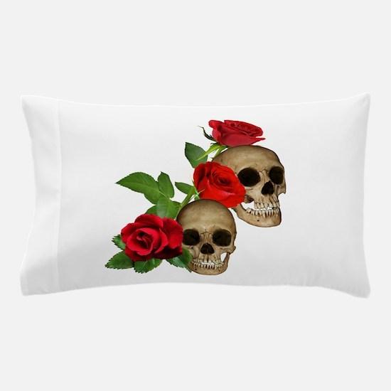 Skulls Roses Pillow Case