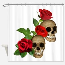 Skulls Roses Shower Curtain