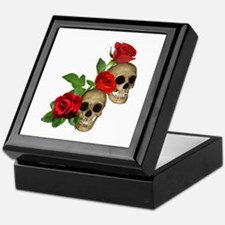 Skulls Roses Keepsake Box