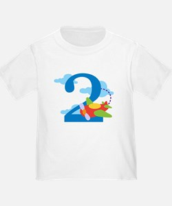 2nd Birthday Airplane T