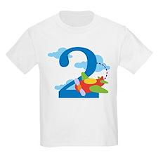 2nd Birthday Airplane T-Shirt