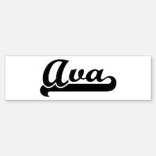 Black jersey: Ava Bumper Bumper Bumper Sticker