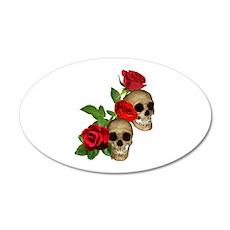 Skulls Roses Wall Decal