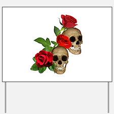 Skulls Roses Yard Sign