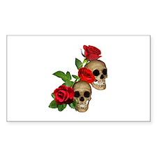 Skulls Roses Decal