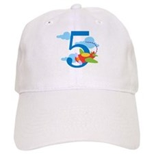 5th Birthday Airplane Baseball Cap