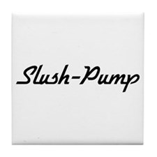Slush-Pump Tile Coaster