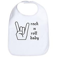 rock n roll baby Bib