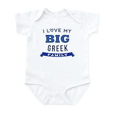 I Love My Big Greek Family Onesie