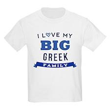 I Love My Big Greek Family T-Shirt