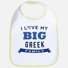 I Love My Big Greek Family Bib