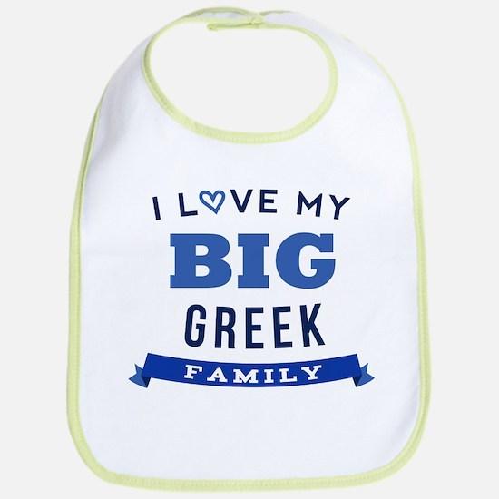 I Love My Big Greek Family Bib