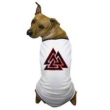 Valknut (red) Dog T-Shirt