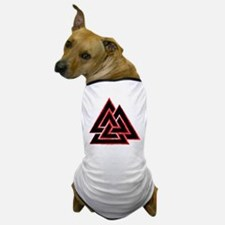 Valknut (red) Dog T-Shirt
