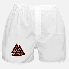 Valknut (red) Boxer Shorts