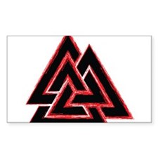 Valknut (red) Decal