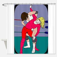 Professional Wrestling Shower Curtain