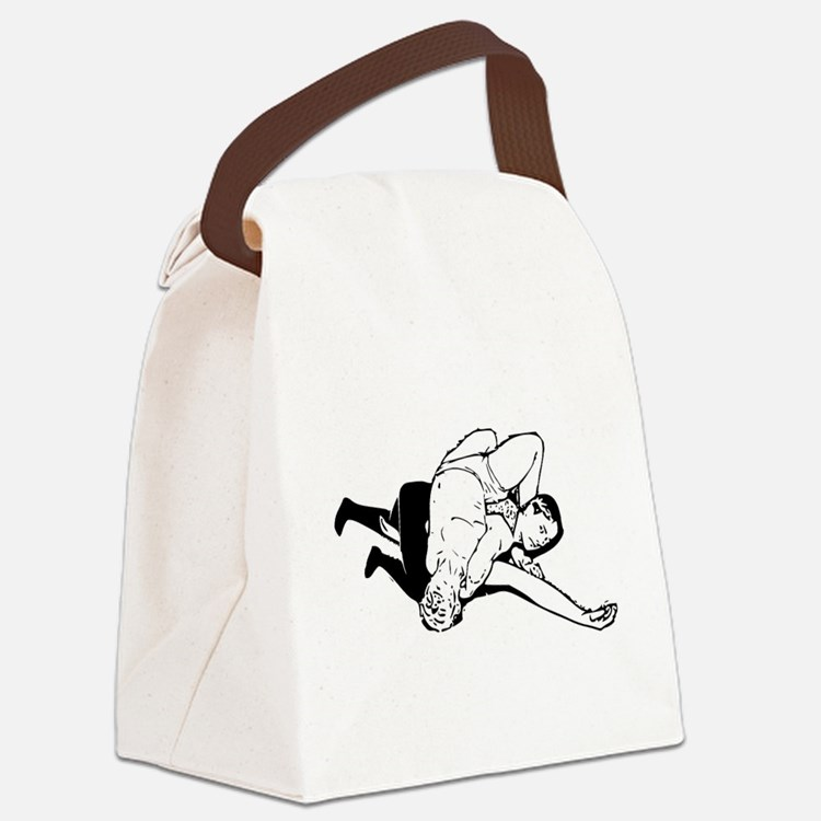 Wrestling Pin Canvas Lunch Bag