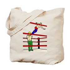 Wrestling Body Slam Tote Bag