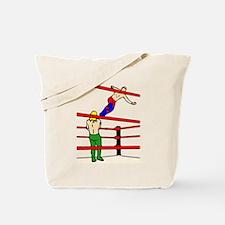 Wrestling Body Slam Tote Bag