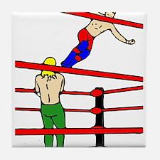Wrestling Body Slam Tile Coaster