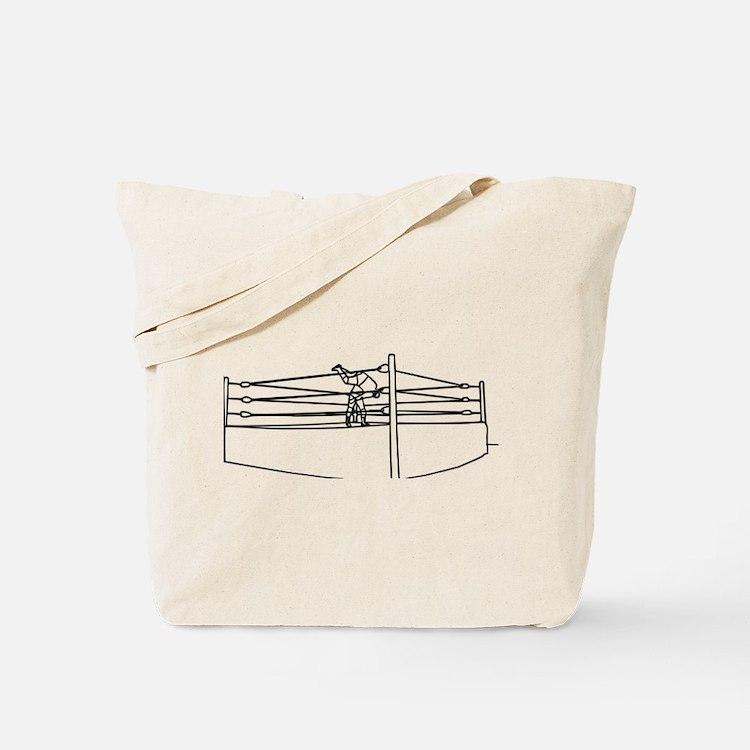Pro Wrestling Ring Tote Bag
