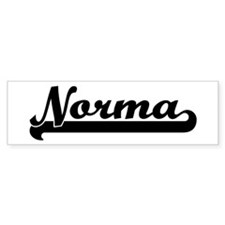 Black jersey: Norma Bumper Car Sticker