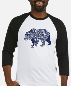 Bear Knotwork Blue Baseball Jersey