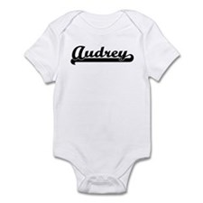 Black jersey: Audrey Infant Bodysuit