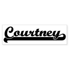 Black jersey: Courtney Bumper Car Sticker