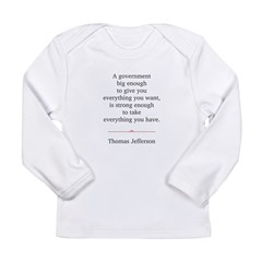 Thomas Jefferson Long Sleeve Infant T-Shirt