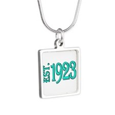 EST.1923 Silver Square Necklace
