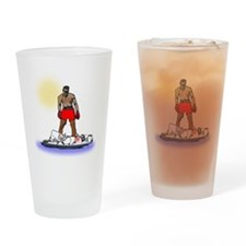 Boxing Knockout Drinking Glass