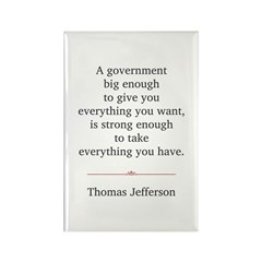 Thomas Jefferson Rectangle Magnet (100 pack)