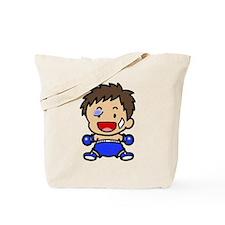 Baby Boxer Black Eye Tote Bag