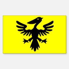 Flag of Syldavia Sticker (Rectangle)