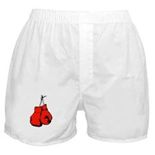 Red Boxing Gloves Boxer Shorts