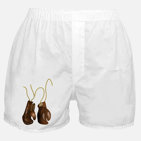 Leather Boxing Gloves Boxer Shorts