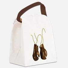 Leather Boxing Gloves Canvas Lunch Bag