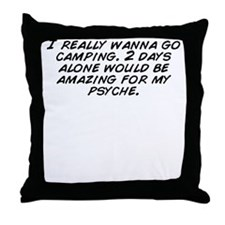 I am alone Throw Pillow