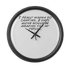 Unique I am alone Large Wall Clock