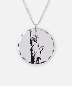 Statue of Liberty Necklace Circle Charm