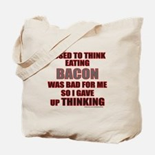 EATING BACON Tote Bag