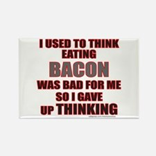 EATING BACON Rectangle Magnet (10 pack)