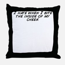 Funny I bite Throw Pillow