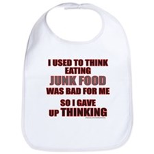 EATING JUNK FOOD Bib