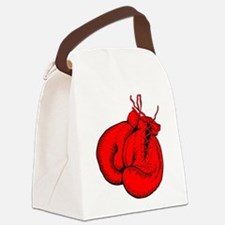 Red Boxing Gloves Canvas Lunch Bag